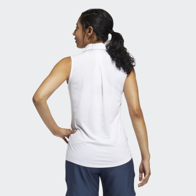 Polo Ultimate365 Solid Sleeveless Blanc Femmes Golf