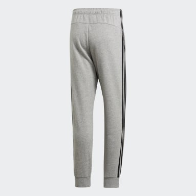 Pantalon Essentials 3-Stripes Tapered Cuffed Gris Hommes Fitness Et Training