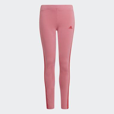 розовый Леггинсы adidas Essentials 3-Stripes