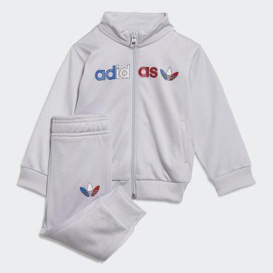 Infants Originals Grey Adicolor Primeblue Track Suit