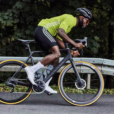 Maillot - Playera de Ciclismo Manga Corta Amarillo Hombre Ciclismo