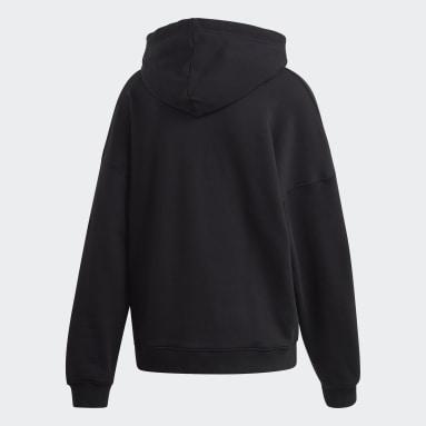 Women Originals Black Large Logo Hoodie