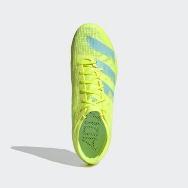 Men's Track & Field Yellow Adizero Ambition Spikes