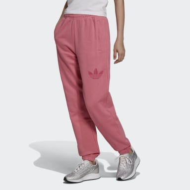Cuffed Sweat Pants with Trefoil Graphic Rosa