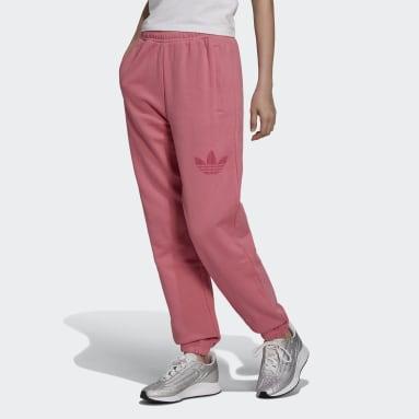 Kvinder Originals Pink Trefoil Graphic Cuffed joggingbukser