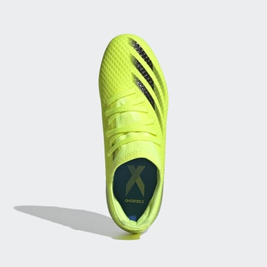 Kids Football Yellow X Ghosted.3 Firm Ground Boots