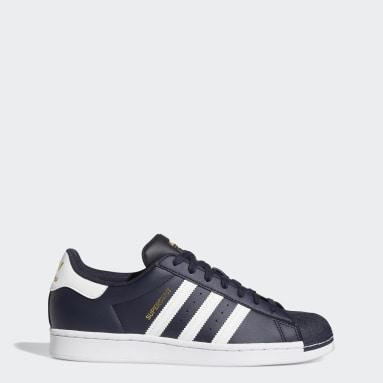 Men's Originals Blue Superstar Shoes