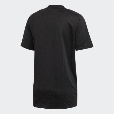 Mænd Fitness Og Træning Sort TAN Jacquard trøje