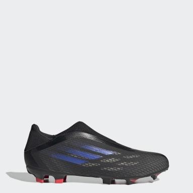 Calzado de Fútbol X Speedflow.3 Sin Cordones Terreno Firme Negro Fútbol