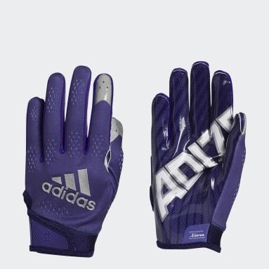Men's Football Purple Adizero 11 Turbo Gloves