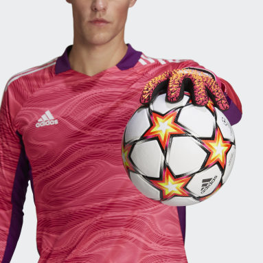 Football Black Predator League Goalkeeper Gloves