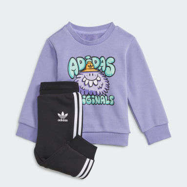 Infants Originals สีม่วง ชุดเสื้อคอกลมและกางเกง Originals x Kevin Lyons