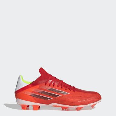 Bota de fútbol X Speedflow.2 césped natural seco Rojo Fútbol