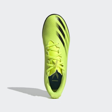 Men Football Yellow X Ghosted.4 Turf Boots