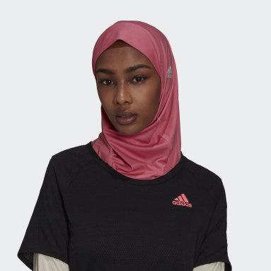 Frauen Trail Running Sport-Hidschab Rosa