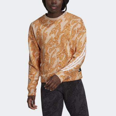 Kadın Sportswear Pembe adidas Sportswear Future Icons Animal-Print Sweatshirt
