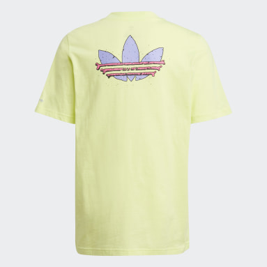 Youth Originals Yellow Funny Dino Graphic Tee