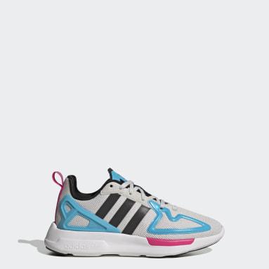 Sapatos ZX 2K Flux Cinzento Criança Originals