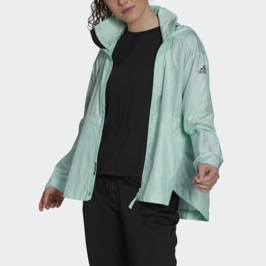 Women's Hiking Turquoise Traveer WIND.RDY Jacket