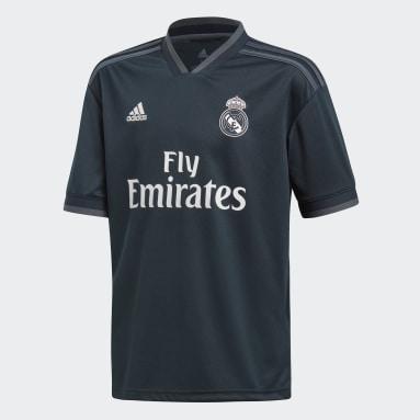 Jersey de Visitante Real Madrid Réplica (UNISEX) Gris Niño Fútbol