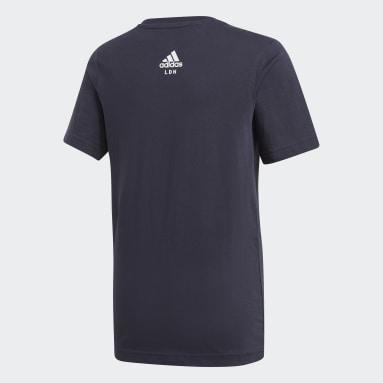 Camiseta London City Limits Azul Niño Gimnasio Y Entrenamiento