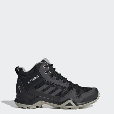 Zapatillas de Senderismo Terrex AX3 GORE-TEX Corte Medio Negro Mujer TERREX