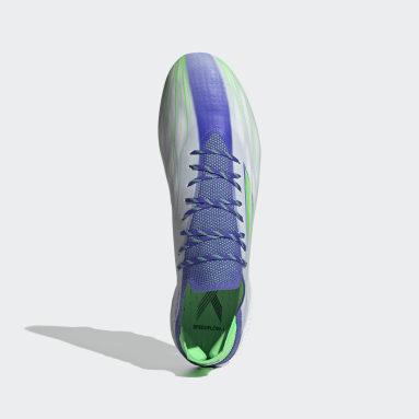 Football White X Speedflow.1 Adizero Firm Ground Boots