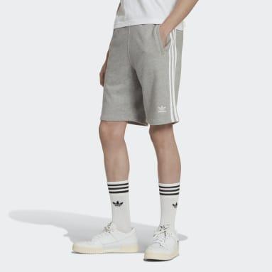 Men Originals Grey 3-Stripes Shorts