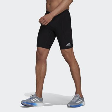 Muži Běh černá Legíny Adizero Primeweave Short Running