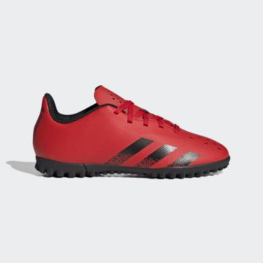 Kids Football Red Predator Freak.4 Turf Boots