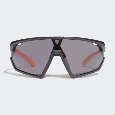 SP0001 Shiny Black Injected Sport Sunglasses Czerń