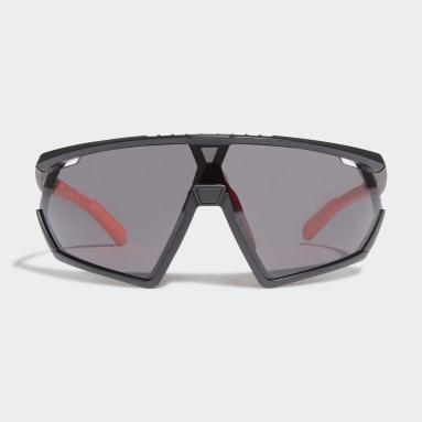 Padel-Tennis SP0001 Shiny Black Injected Sportsonnenbrille Schwarz