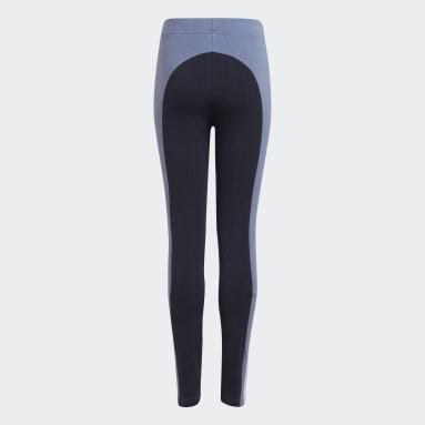 Girls Sportswear Blue adidas Essentials Colorblock Leggings