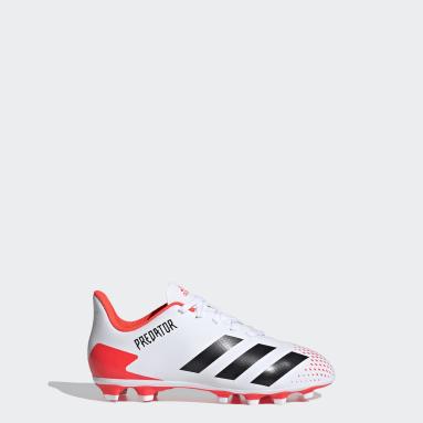 Kids Football White Predator 20.4 Flexible Ground Boots