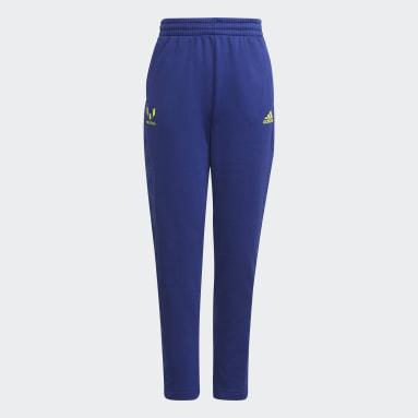 Pantalon AEROREADY Messi Football-Inspired Tapered Bleu Garçons Fitness Et Training