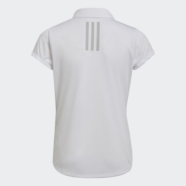 Youth Golf White Performance Primegreen Polo Shirt