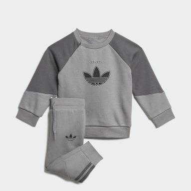Kids Originals Grey adidas SPRT Crew Set