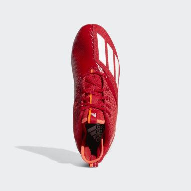 Men's Football Red Adizero Scorch Football Cleats