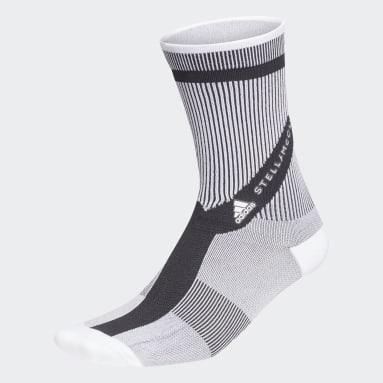 ผู้หญิง เทรนนิง สีขาว ถุงเท้าความยาวครึ่งแข้ง adidas by Stella McCartney