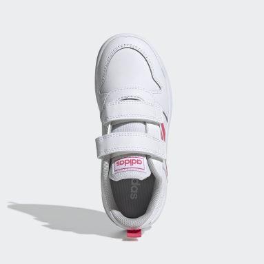 Girls Running White Tensaurus Shoes