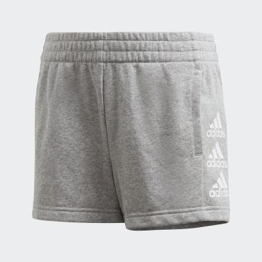 Pantalón corto Must Haves Gris Niña Gimnasio Y Entrenamiento