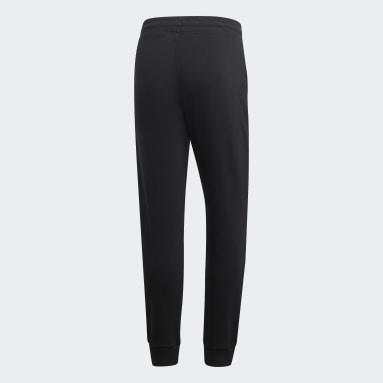 Men Sport Inspired Black Brilliant Basics Track Pants