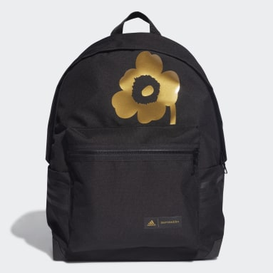 Women Training Black Marimekko Unikko Flower-Print Classic Backpack