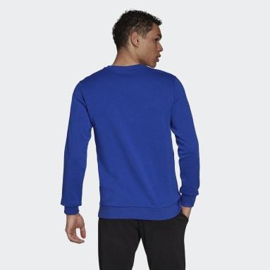 Blusa Moletom Essentials 3-Stripes Azul Homem Estilo Esportivo