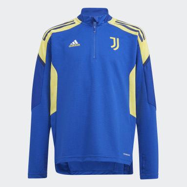 Kinder Fußball Juventus Turin Condivo Training Oberteil Blau