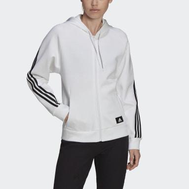 Kvinder Sportswear Hvid adidas Sportswear Future Icons 3-Stripes hættetrøje