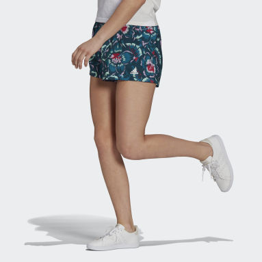 Women's sport_inspired Turquoise FARM Rio Floral Print Shorts