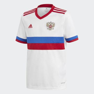 Maillot Extérieur Russie Blanc Enfants Football