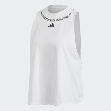 Frauen Sportswear Sleeveless Graphic Top Weiß