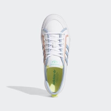 Women Originals White Nizza Shoes